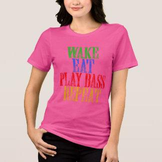 T-shirt Le sillage mangent la répétition BASSE de JEU