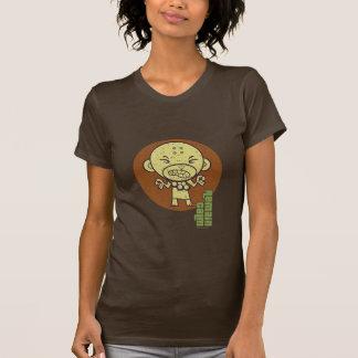 T-shirt Le singe bouddhiste restent calme