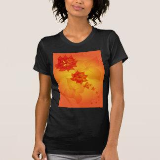 T-shirt le soleil d'orange d'ornement floral