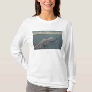 T-shirt Le soleil Skyway BridgeFlorida de la Floride