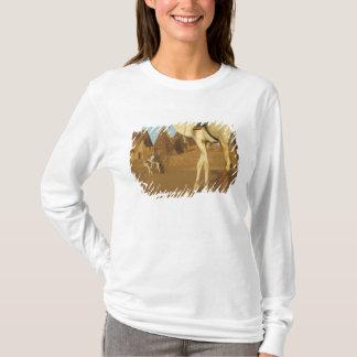 T-shirt Le Soudan, nord (Nubia), pyramides de Meroe avec