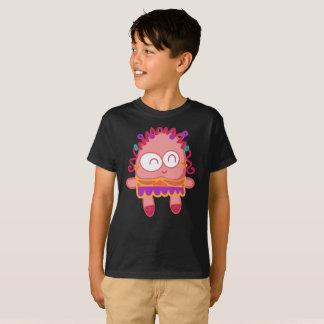 T-shirt Le sourire onduleux de petit pain rose mignon rit