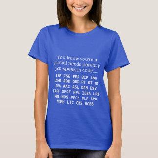 T-shirt Le Special drôle a besoin des acronymes de parent