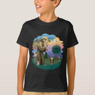 T-shirt Le St Francis (ff) - chat de tigre tigré