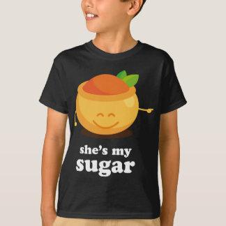 T-shirt Le sucre mignon de couples et épicent le sien