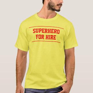 T-shirt le super héros pour la location customisent le