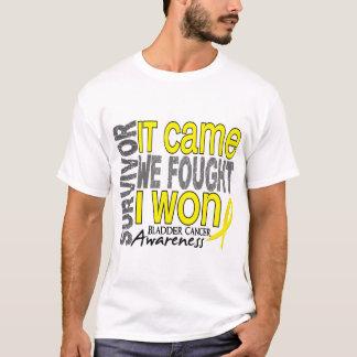 T-shirt Le survivant de cancer de la vessie qu'il est venu