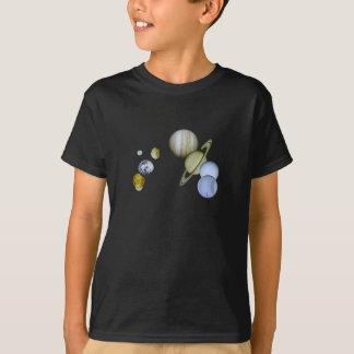 T-shirt Le système solaire badine le cadeau foncé de la