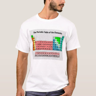 T-shirt Le Tableau périodique (simple avec l'arrière -