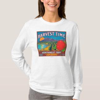T-shirt Le temps de récolte Apple marquent - Yakima, WA