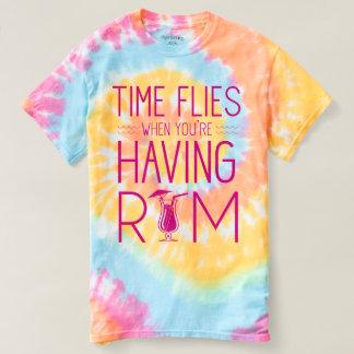 T-shirt Le temps vole quand vous prenez le rhum