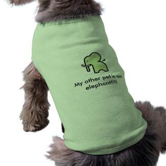 T-shirt le teste d'elefante, mon autre animal familier est