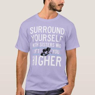 """T-shirt Le thêta NU XI """"vous soulèvent plus haut"""" chemise"""