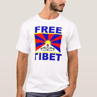 T-shirt Le Thibet libre avec le drapeau tibétain