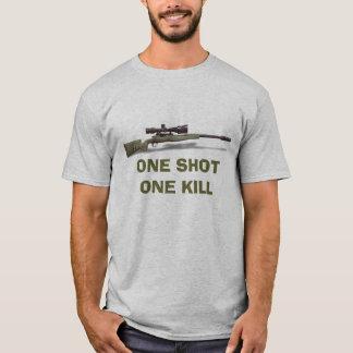 T-shirt Le tireur isolé un a tiré une mise à mort