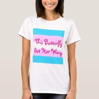 """T-shirt Le transsexuel MTF """"ce papillon lui a obtenu des"""