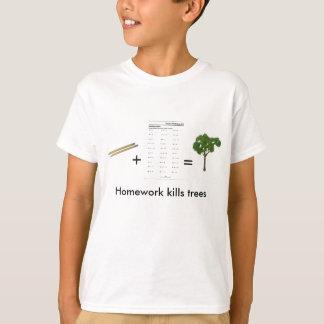 T-shirt Le travail tue des arbres