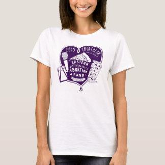 T-shirt Le triathlon T - pourpre de 2015 femmes