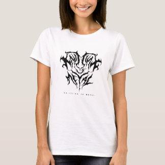T-shirt Le tricot est la pièce en t des femmes en métal