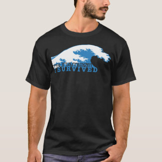 T-shirt Le tsunami 2011, j'ai survécu, des revenus serai