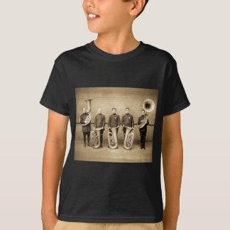 T-shirt Le tuba attrape le cru (la sépia)