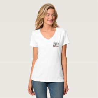 T-shirt Le V-cou de projet d'anniversaire