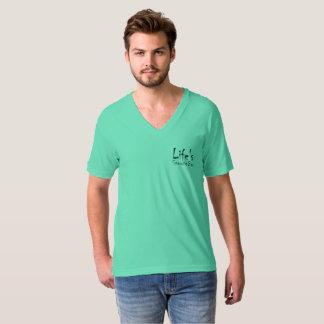 T-shirt Le V-Cou des hommes de barre de petit somme de la