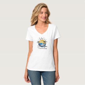 T-shirt Le V-Cou nano des femmes de barre du petit somme