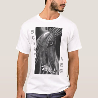 T-shirt Le veg effrayant trace la vengeance de racine