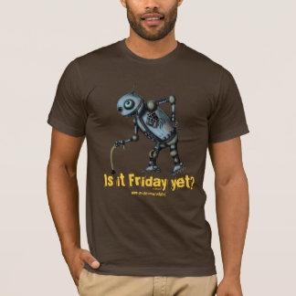 T-shirt Le vieux robot frais drôle veut la conception de