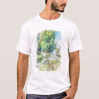 T-shirt Le village (en pastel sur le papier)