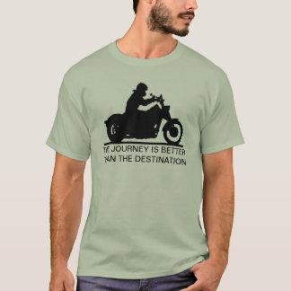 T-shirt Le voyage est meilleur que la destination
