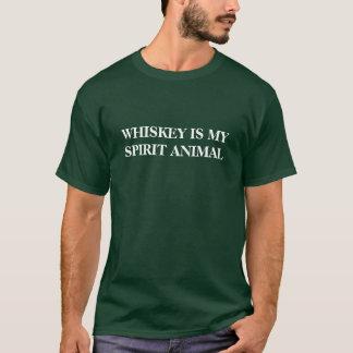 T-shirt Le whiskey est mon animal d'esprit