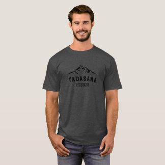 T-shirt Le yoga vintage des hommes Sanskrit de montagne de