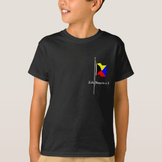 T-shirt Le zoulou exigent un drapeau de signal nautique de