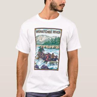 T-shirt L'eau blanche transportant par radeau - rivière de