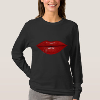 T-shirt L'eau d'un rouge ardent laisse tomber des lèvres