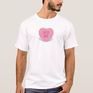 T-shirt léchez-moi sucrerie de coeur