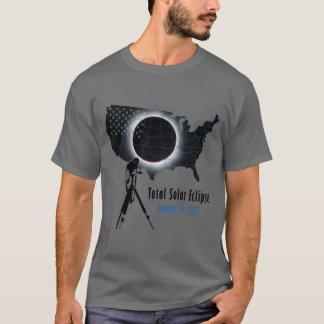 T-shirt L'éclipse solaire totale 2017 avec les Etats-Unis