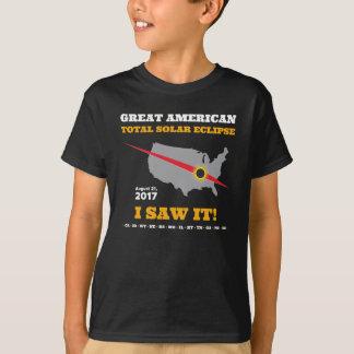 T-shirt L'éclipse solaire totale - 2017 - je l'ai vue !