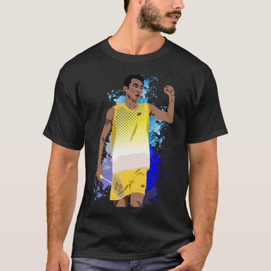 T-shirt Lee Chong Wei Cartoon Black - Badminton