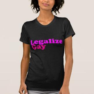 T-shirt légalisez le magenta rose gai