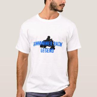 T-shirt Légende de emballage de tondeuse à gazon