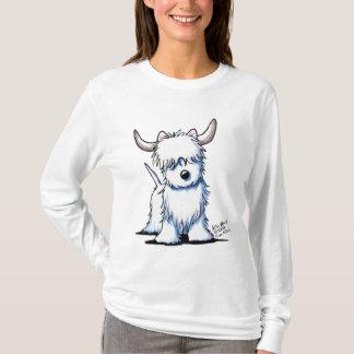 T-shirt léger de dames des montagnes de vache à
