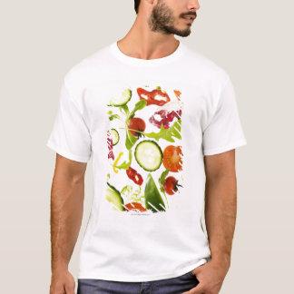 T-shirt Légumes frais de salade mixte tombant à
