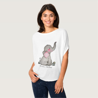 T-shirt L'éléphant mignon de bébé d'aquarelle avec