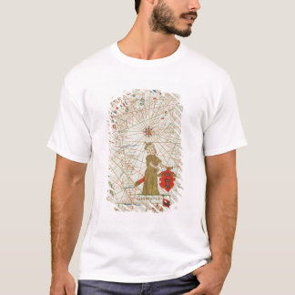 T-shirt L'empire turc, d'un atlas nautique, 1646