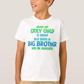 T-shirt L'enfant unique expire - vert bleu de garçon