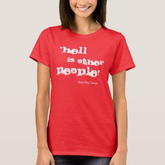 T-shirt L'enfer est l'autre chemise de personnes