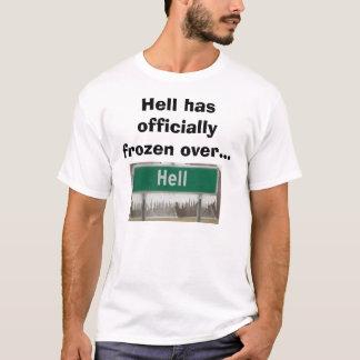 T-shirt L'enfer gèle au-dessus de l'enterrement de vie de
